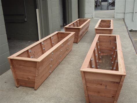 large planter boxes large redwood planter boxes made for bamboo trick
