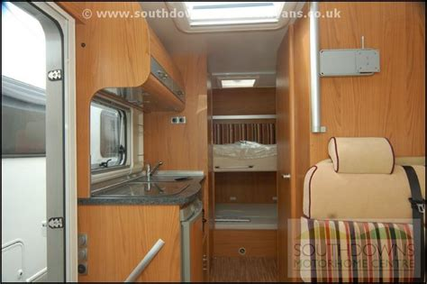 motorhome bunk beds southdowns new burstner aviano i610 bunk bed motorhome