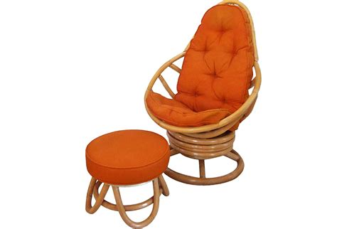 swivel rockers with ottomans retro rattan swivel rocker with ottoman omero home