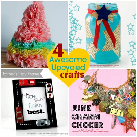 awesome craft projects four awesome upcycled crafts 187 dollar store crafts