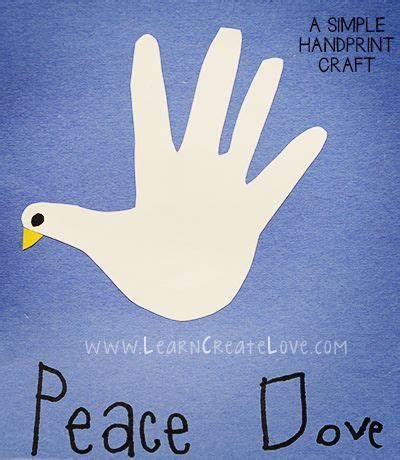 holy spirit crafts for handprint dove craft learncreatelove kid
