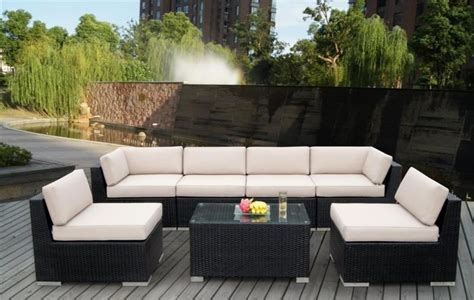 an collection of outdoor lounge furniture