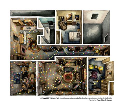 House Layouts stranger things rendered in amazing plans archdaily