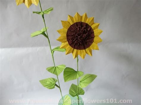 origami sunflower step by step origami sunflower how to make paper flowers