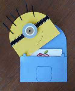 how to make a minion card simple gift card holder cards and candles in progress