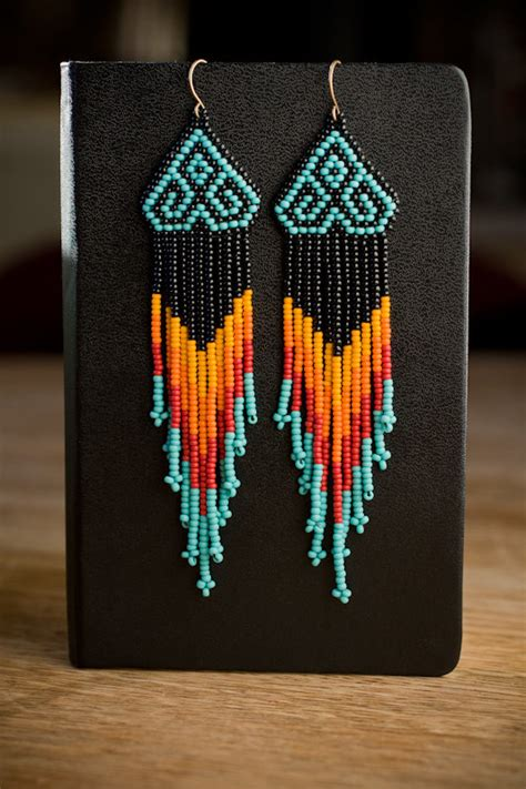 how to bead american style american style chevron beaded earrings