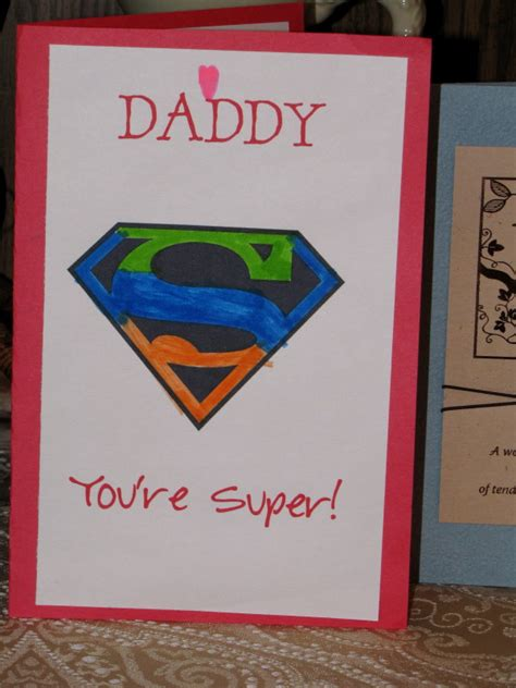 preschool fathers day cards to make preschool crafts for s day superman card craft