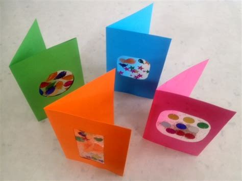 card craft for colourful window greeting card craft