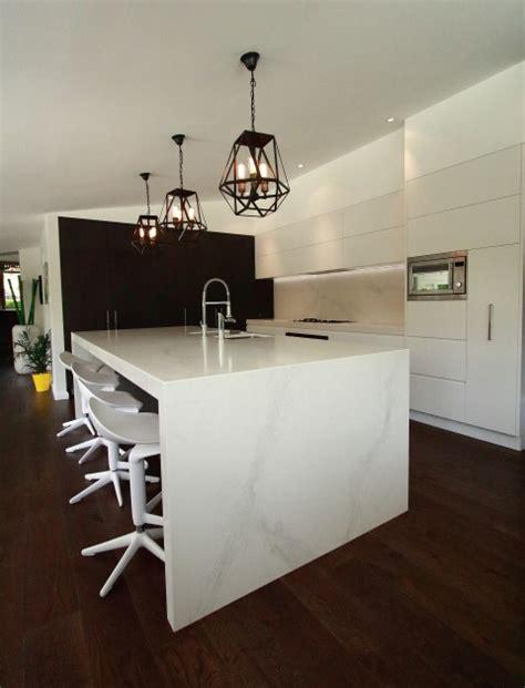 modern kitchen island bench modern kitchen with large island bench in calacatta modern kitchen sydney