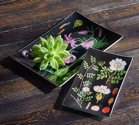 decoupage trays botanical decoupage tray pottery barn