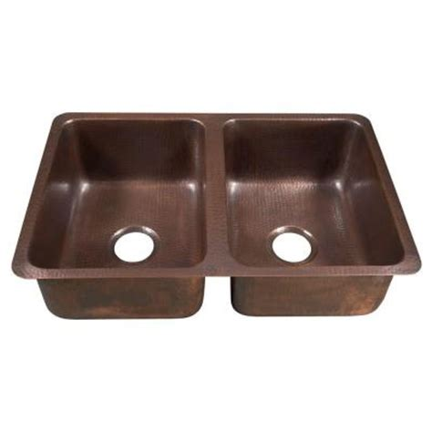 homedepot kitchen sinks sinkology da vinci undermount handmade solid copper