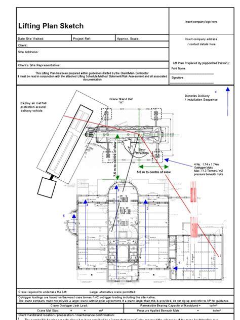lifting plan example