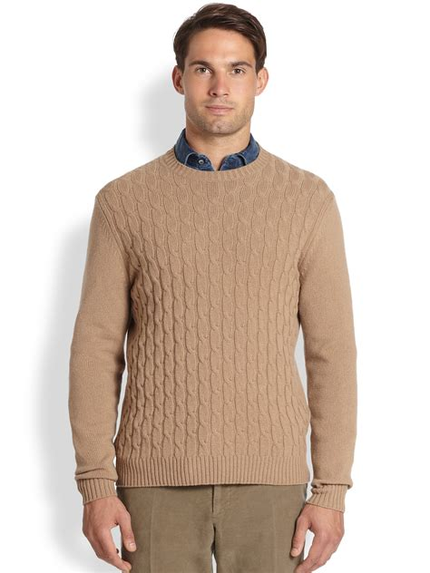 mens cable knit sweaters slowear zanone wool cable knit sweater in for