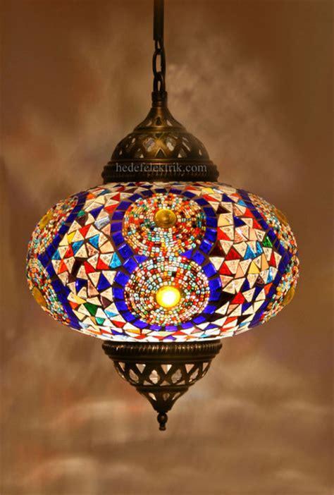 turkish pendant light turkish style colourful mosaic pendant l 22 cm
