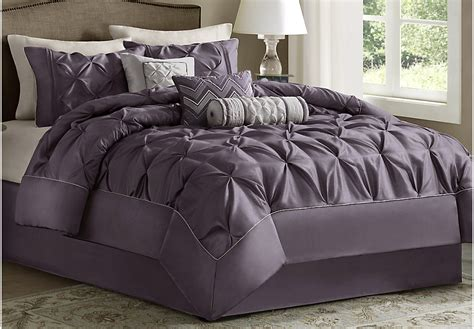 plum bedding sets janelle plum 7 pc comforter set linens