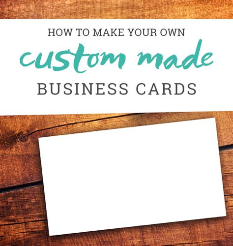 how to make visiting card how to make your own business cards a tutorial