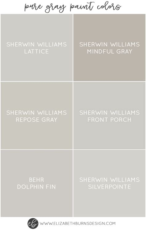 best gray paint colors sherwin williams the best grey paint colors paint guide elizabeth