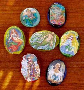 decoupage rocks decoupage on rocks paper weights