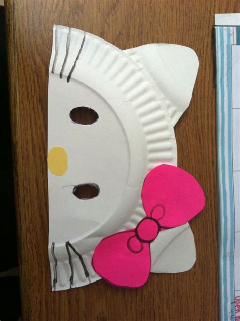 hello paper craft diy hello paper plate masks cut paper plate in half