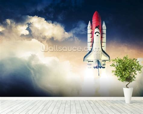 Space Shuttle Wall Mural space shuttle wallpaper wall mural wallsauce
