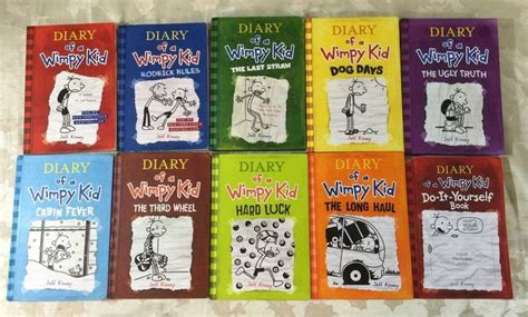 pictures of jeff kinney books lot of 10 diary of wimpy kid 1 9 do it yourself book