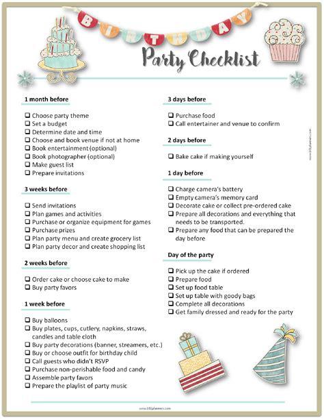 planning checklist planning template