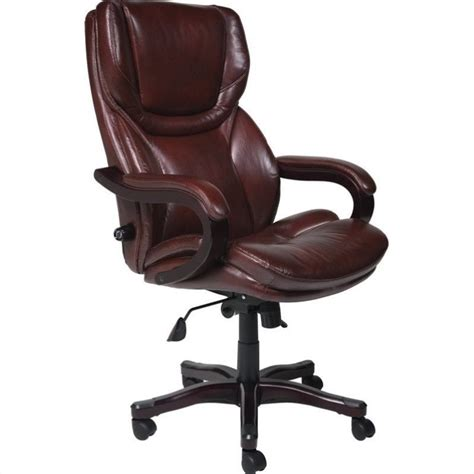 executive office chair leather executive office chair in brown bonded leather 43506
