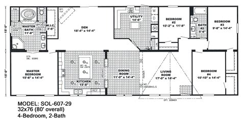 5 bedroom mobile homes floor plans 4 bedroom 3 bathroom mobile home floor plans