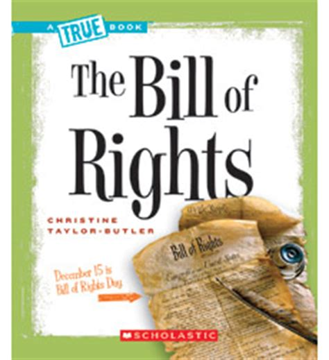 Product A True Book American History The Bill Of Rights