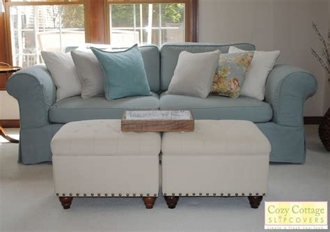 sofas with slipcovers cozy cottage slipcovers fresh new look with slipcovers