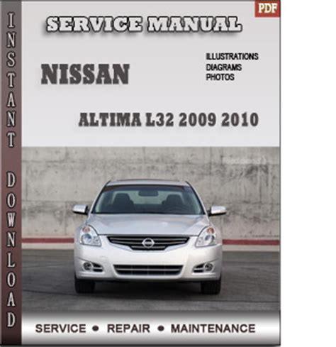 service repair manual free download 2009 nissan sentra instrument cluster 2009 2010 nissan altima l32 service repair manual