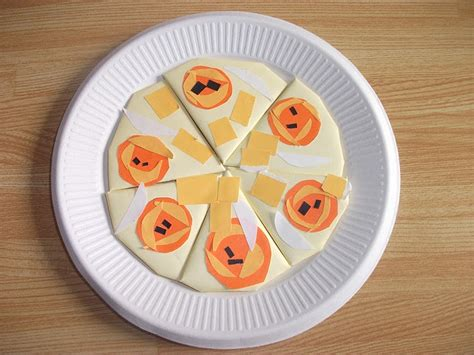 easy food crafts for preschool crafts for origami food pizza craft