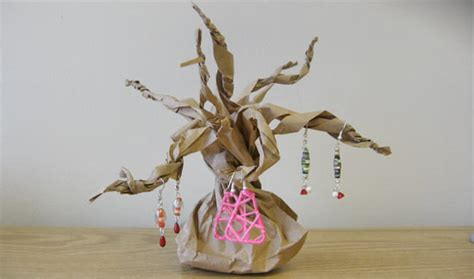 paper bag tree craft paper bag tree display factory direct craft
