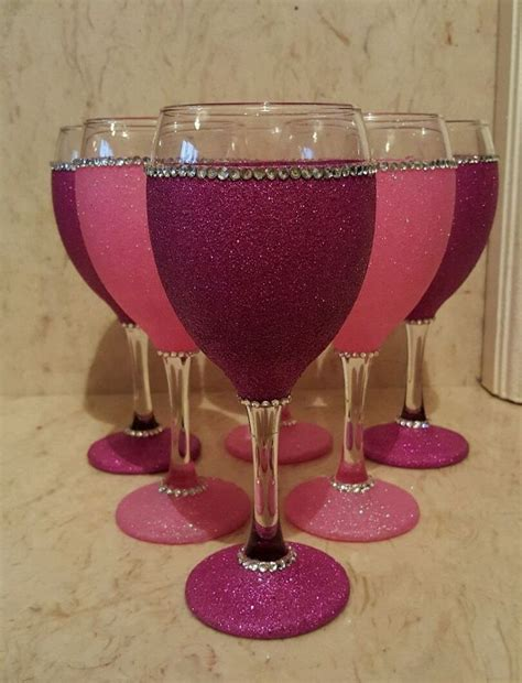 wine glass decorations 25 best ideas about decorated wine glasses on