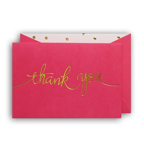 thank you card tickled pink thank you cards box of 10