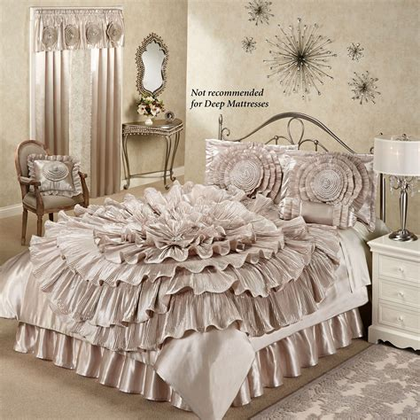 ruffled bedding sets chagne bedroom home gt ruffled chagne