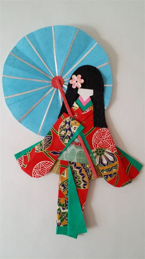 origami doll washi ningyo traditional japanese kimono paper by www