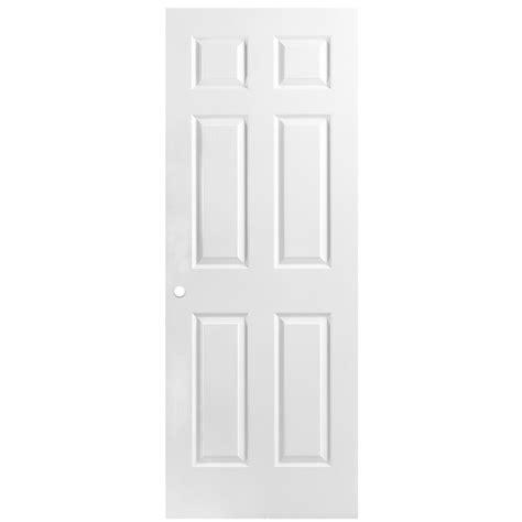 24 x 80 interior door shop reliabilt 6 panel hollow textured bored interior