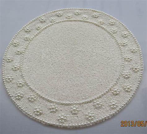 Handmade 35 Cm Posavasos Vintage Beaded Placemat