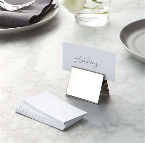Custom Design Kitchen Islands set of 20 white place cards crate and barrel