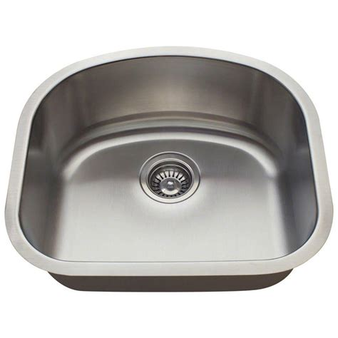 stainless steel undermount single bowl kitchen sink polaris sinks undermount stainless steel 20 in single