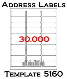 avery template 5160 labels