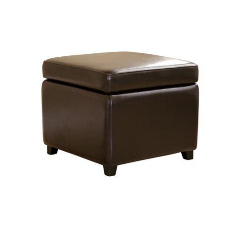 brown leather ottoman storage wholesale interiors bicast leather storage ottoman brown y