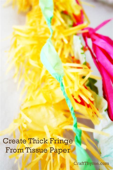 thick tissue paper for crafts how to make thick tissue paper fringe craft thyme