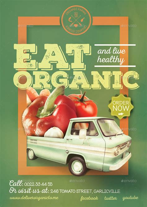 Home Design Software Easy To Use organic food poster flyer template by creativeform