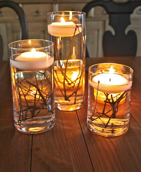 water and floating candles bringing the outdoors in the family ceo
