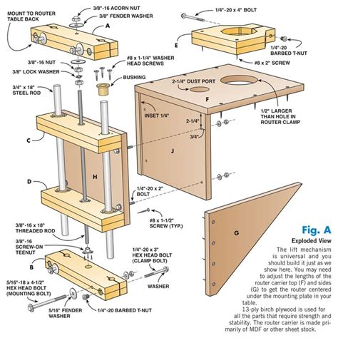 router plans woodworking free aw 8 9 12 shop made router lift woodworking