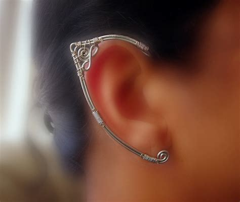 how to make ear cuffs jewelry ear wrap pair by pikabee on deviantart