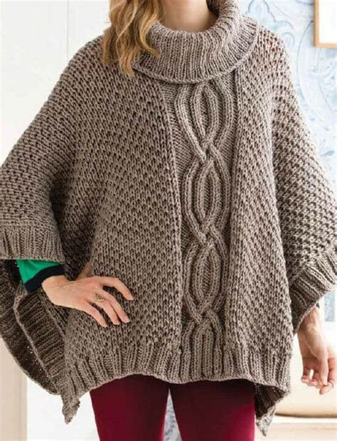 chunky poncho knitting pattern poncho knitting patterns