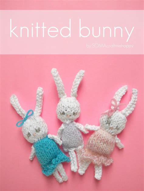 easy rabbit knitting pattern easy knitted bunny free pattern knitting